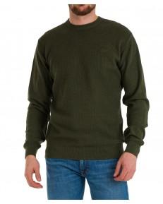 Sweter Lee BASIC CREW KNITWEAR L83I Serpico Green