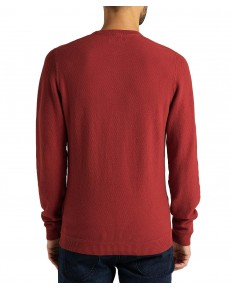 Sweter Lee BASIC TEXTURED CREW L85B Red Ochre