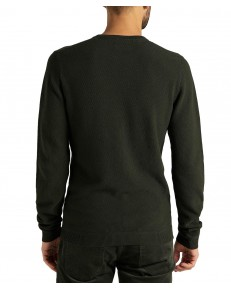 Sweter Lee BASIC TEXTURED CREW L85B Serpico Green