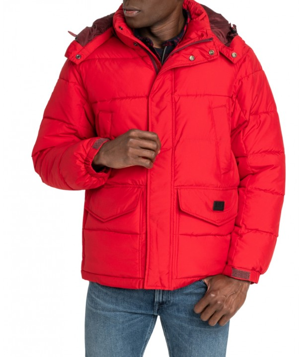Lee PUFFER JACKET L87X Warp Red L87XUMKG