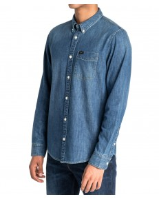 Koszula Lee BUTTON DOWN L880 Oil Blue