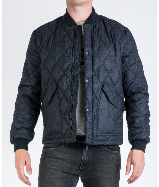 Lee QUILTED BOMBER L89E Dark Grey Mele L89EEX06