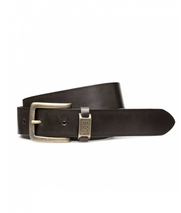 Lee LOGO BELT LA055 Dark Brown LA055324