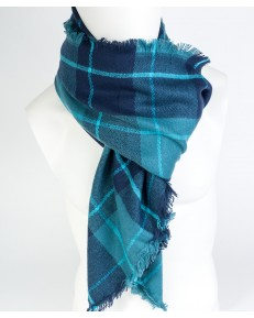 Lee CHECK SCARF LW06 Medieval Blue