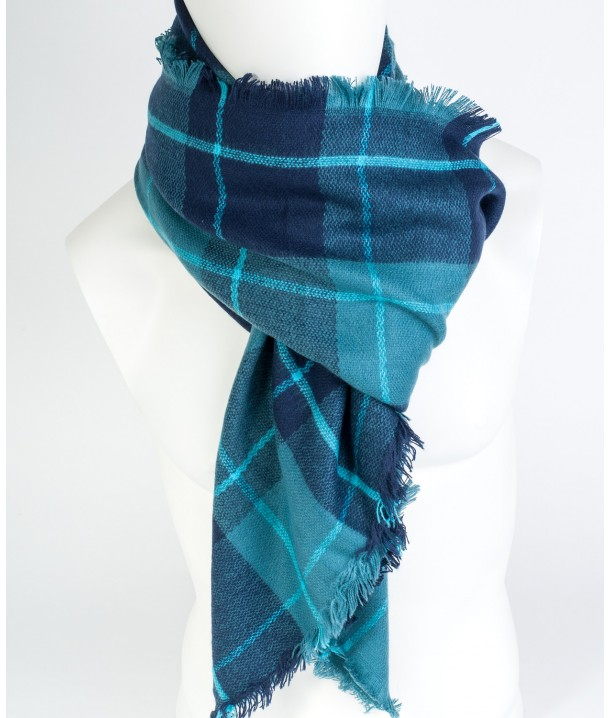 Lee CHECK SCARF LW06 Medieval Blue LW061713