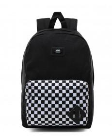 Vans NEW SKOOL BACKPACK Black/Checkerboard