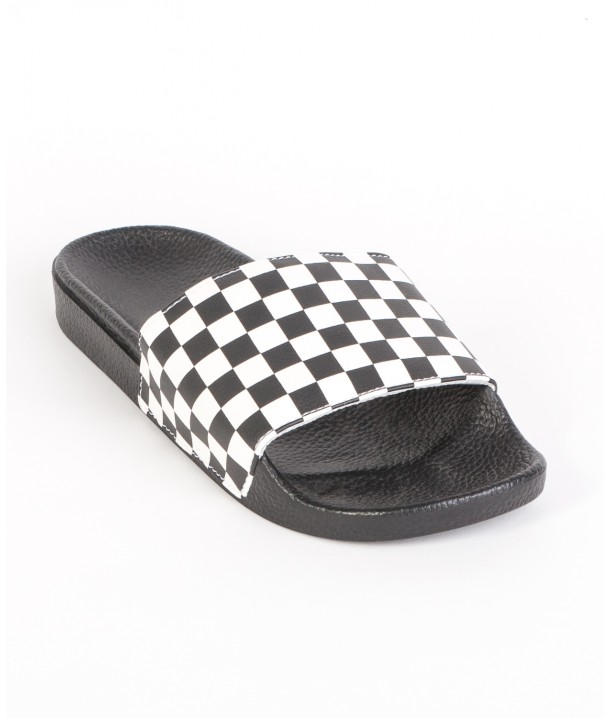 Vans SLIDE-ON SANDALS (Checkerboard) Black/White V004KIIP9
