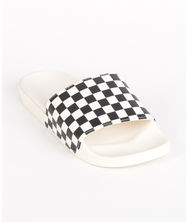 Vans SLIDE-ON SANDALS (Checkerboard) White/Black V004LG27K