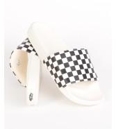 Vans SLIDE-ON SANDALS (Checkerboard) White/Black