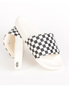 Vans SLIDE-ON SANDALS (Checkerboard) White/Black