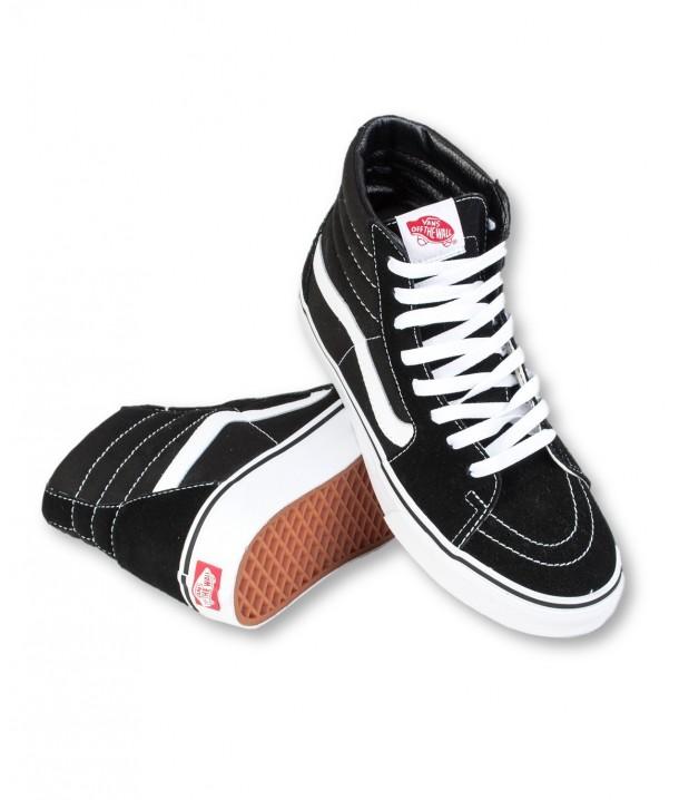 Vans U SK8-HI Black/Black/White V00D5IB8C