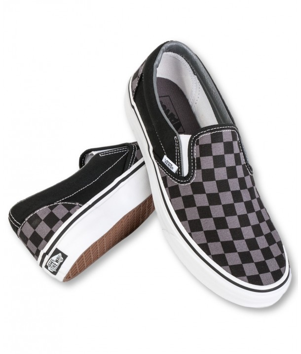 Vans U CLASSIC SLIP-ON Black/Pewter Checkerboard V00EYEBPJ