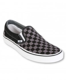 Buty Vans U CLASSIC SLIP-ON Black/Pewter Checkerboard