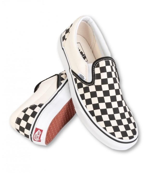 Vans U CLASSIC SLIP-ON Black/White Checkerboard/White V00EYEBWW