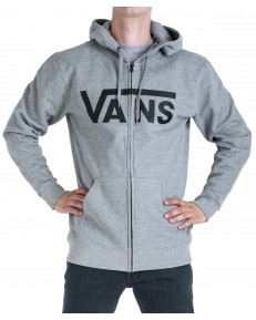 Vans CLASSIC HOODIER ZIP Concrete Heather/Black