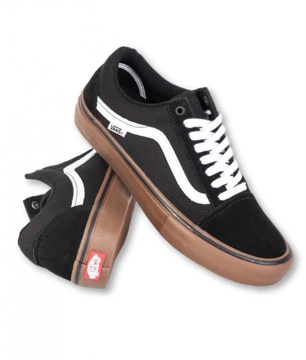 Vans OLD SKOOL PRO Black/White/Medium Gum V00ZD4BW9