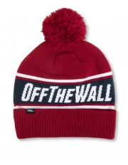 Vans OFF THE WALL POM BEANIE Biking Red/Dress Blues
