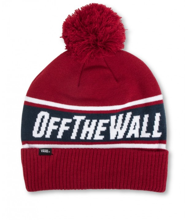 Vans OFF THE WALL POM BEANIE Biking Red/Dress Blues VA2YR7TN3