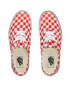Vans AUTHENTIC (Blur Check) True White/Red
