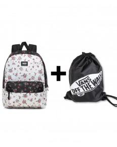 Zestaw Vans Plecak REALM CLASSIC Beauty Floral Patchwork + Worek BENCHED BAG Onyx