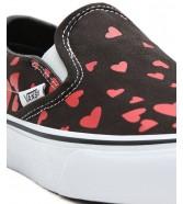 Buty Vans CLASSIC SLIP-ON (Valentines Hearts) Black/Racing Red