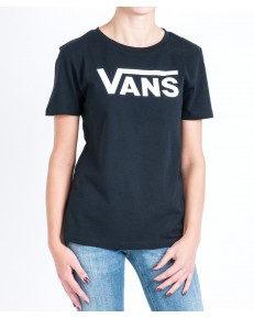 T-shirt Vans FLYING V CREW NECK Black