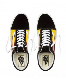 Vans OLD SKOOL (Flame) Black/True White