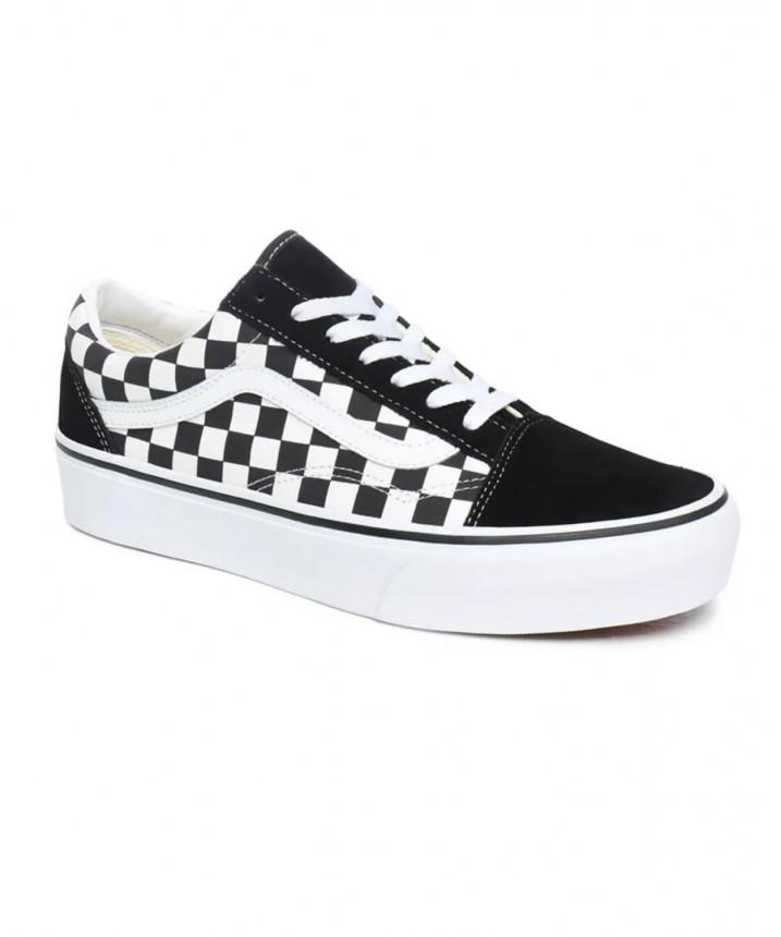 Buty Vans OLD SKOOL PLATFOR (Checkerboard) BlackTrue White