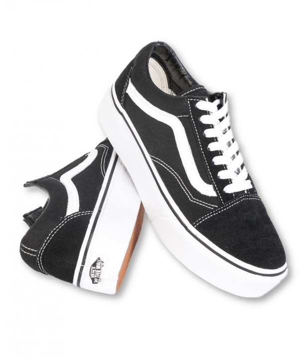 Vans OLD SKOOL PLATFOR Black/White VA3B3UY28