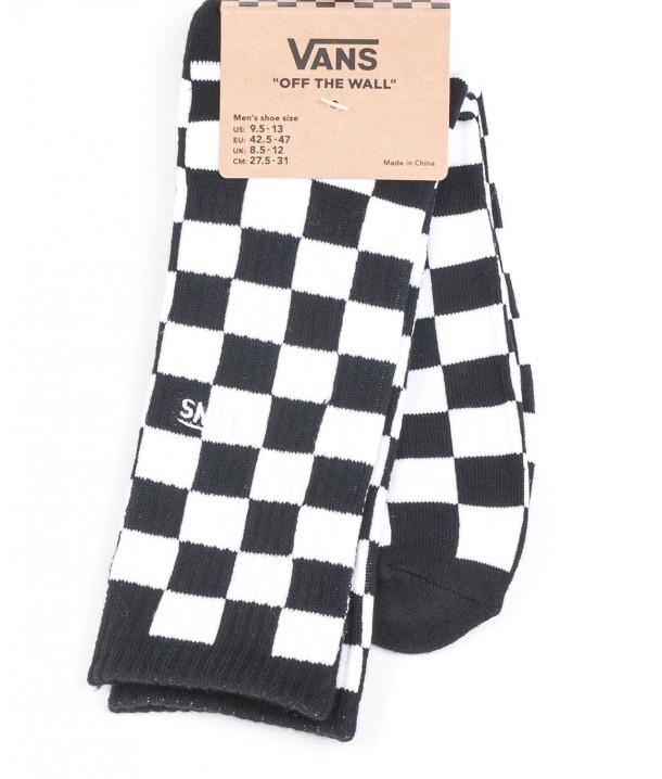Vans Socks CHECKEBOARD CREW Black/White VA3H3OHU0