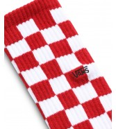 Skarpetki Vans CHECKEBOARD CREW Red/White