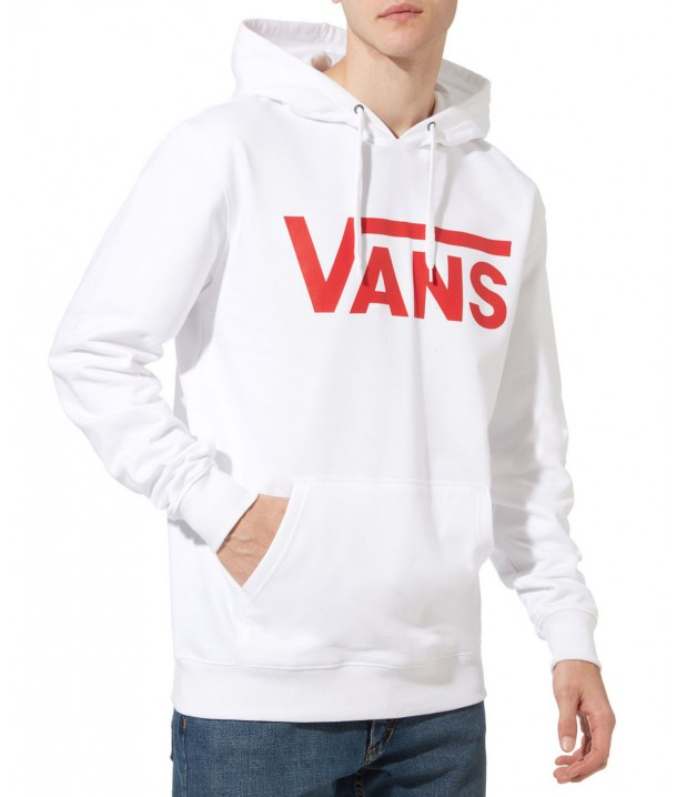 Vans CLASSIC PULLOVER II White/Racing Red