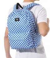 Zestaw Vans Plecak OLD SKOOL III Victoria Blue + Worek BENCHED BAG Black/White Checkerboard