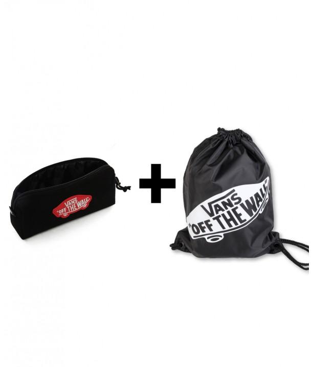 Zestaw Vans Worek BENCHED BAG Onyx + Piórnik OTW PENCIL POUCH Black Chilli
