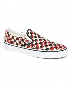 Buty Vans CLASSIC SLIP-ON (Vans Crew) Checkerboard/Red