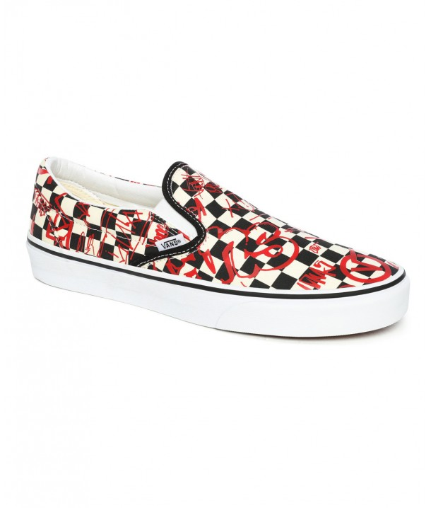 Vans CLASSIC SLIP-ON (Vans Crew) Checkerboard/Red