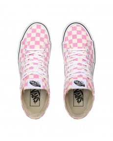 Vans SK8-HI TAPERED (Checkerboard) Fuchsia Pink/True White