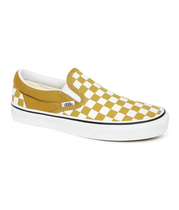 Vans CLASSIC SLIP-ON (Checkerboard) Olive Oil/True White