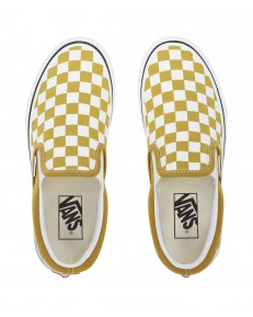 Vans CLASSIC SLIP-ON (Checkerboard) Olive Oil/True White