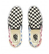 Vans CLASSIC SLIP-ON (Glitter Check) Multi/True White