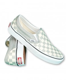 Buty Vans CLASSIC SLIP-ON (Checkerboard) Silver/True White
