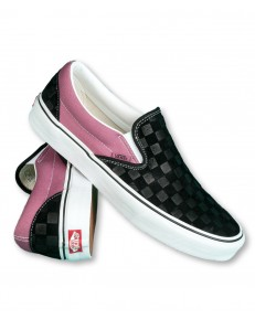 Buty Vans CLASSIC SLIP-ON (Deboss Checkerboard) Black/Heather Rose