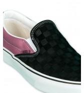 Vans CLASSIC SLIP-ON (Deboss Checkerboard) Black/Heather Rose