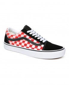 Vans OLD SKOOL (Blur Check) True White/Red