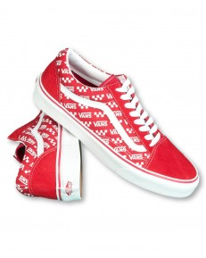 Vans OLD SKOOL (Logo Repeat) Racing Red/True White