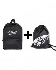 Zestaw Vans Plecak REALM Black + Worek BENCHED BAG Onyx