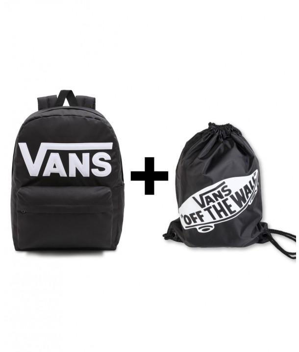 Zestaw Vans Plecak OLD SKOOL DROP + Worek Vans BENCHED BAG Onyx