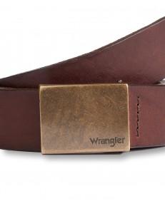 Pasek Wrangler PLATE BUCKLE W0E3 Brown