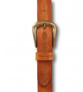 Wrangler TWISTED PATTERN BELT W0G2 Cognac