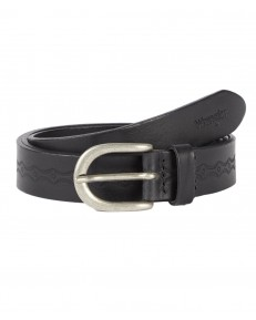 Wrangler THIN DETALIED  BELT W0H1 Black